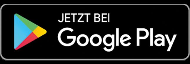Google Play Store Badge Button. Links das Google Play Store Logo, ein nach rechts gerichteter Pfeil in 4 Farben, rechts der Text
